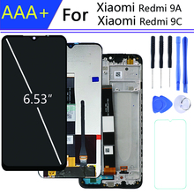 For 6.35 Inch xiaomi redmi 9a display wint Frame Touch Screen for Xiaomi Redmi 9C LCD display in Mobile Phone LCDs pantalla