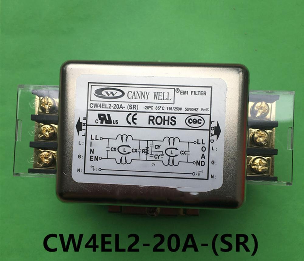 Two-stage power filter CW4EL2-20A-(SR) terminal platform guide rail CW4EL2-20A