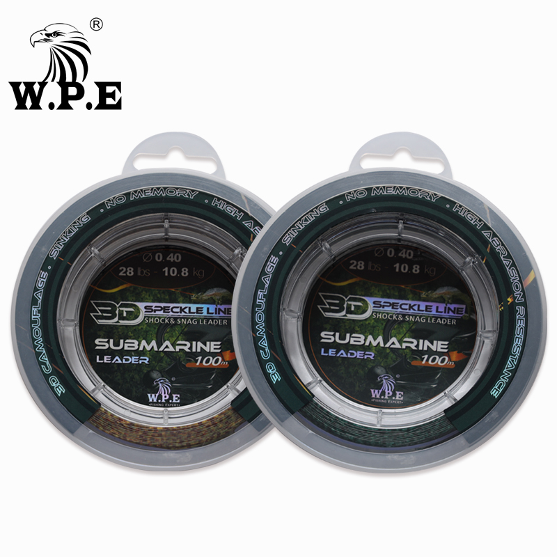 W.P.E Brand New Nylon Fishing line 100m/150m/300m/500m 10-52LB Multicolor 2-13# 3D Speckle Fishing Line Leader Line Sinking Line