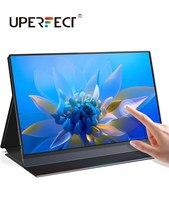 UPERFECT 15.6 Cal ekran dotykowy przenośny Monitor jeden USB-C/HDMI do wyświetlania z 10800mAh akumulator drugi ekran