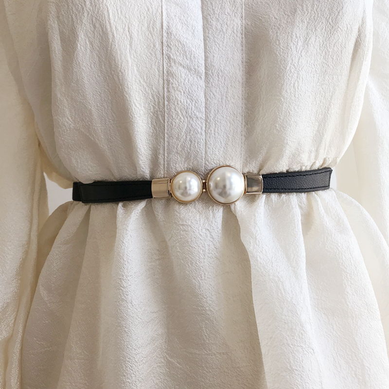 2020 High Fashion Waistband Female Solid All-match Corset Belt Spring New Design Hot Sale Pearl Belts For Women Trendy ZK892