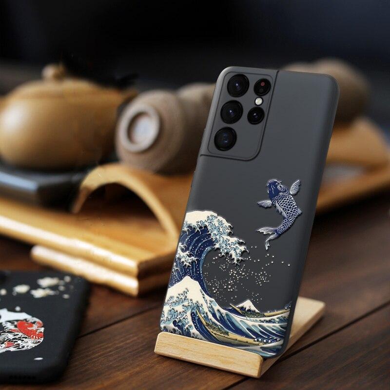 3D Cute Wave Samsung Galaxy S21 Ultra Case For Fundas Samsung Galaxy S21 Plus 5G