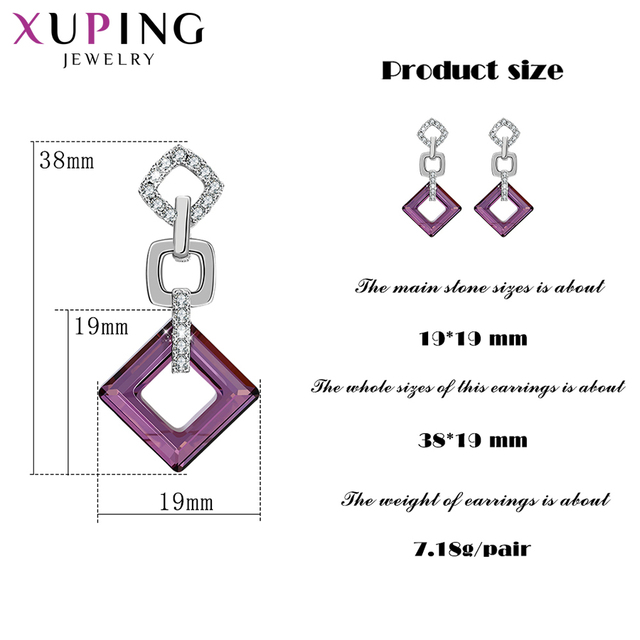 Xuping Exquisite Colorful Earrings High Quality Crystals from Swarovski Color Plated for Women Valentine s Day.jpg 640x640 - Xuping Exquisite Colorful Earrings High Quality Crystals from Swarovski Color Plated for Women Valentine's Day Gifts S89-202