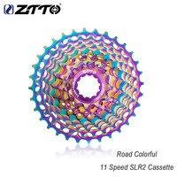 ZTTO road bike cassette flywheel multicolor ultralight flywheel bicycle 11 speed 28T / 32T / 34T / 36TCNC SLR colorful cassette|Bicycle Freewheel| |  -