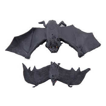 Halloween Decorations Props Realistic Looking Rubber Hanging Bats Pendant for Halloween Haunted House Decoration image