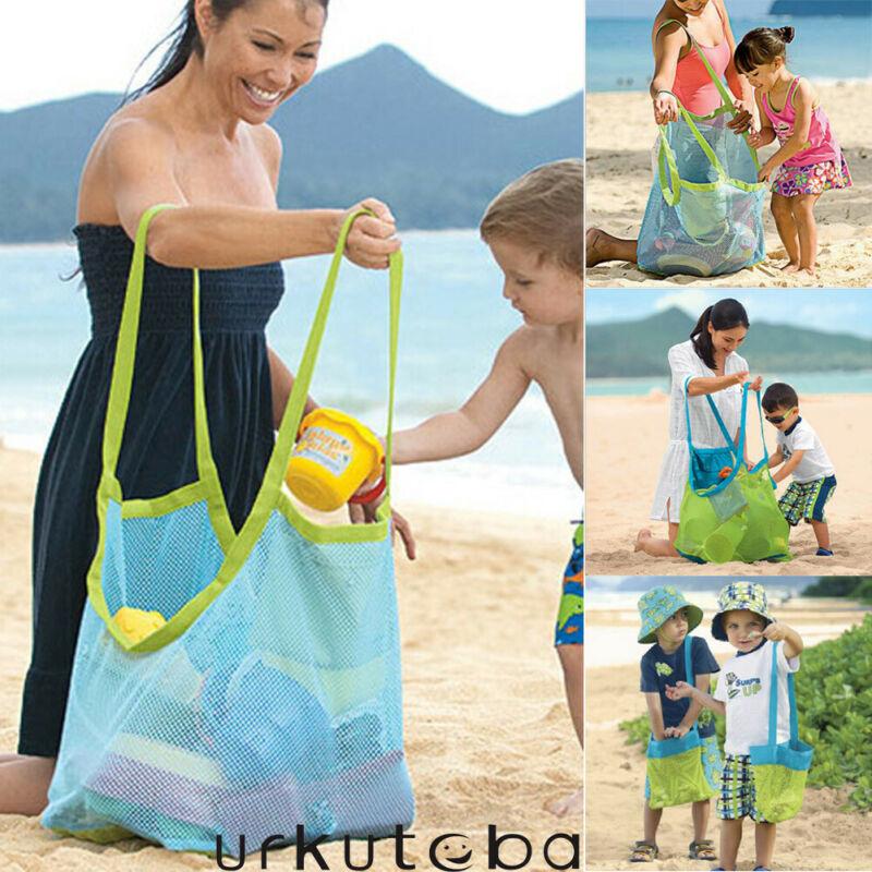 DE Strand Spielzeug Aufbewahrungstasche Tote Kids Folding Sand Away Net Taschen
