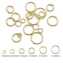 100 Pçs/lote 18K Banhado A Ouro Abrir Ir Anel 4/5/6/8mm Rodada Anéis de Divisão Para Diy Jewelry Making Achados