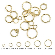 Open Jewelry Split-Rings Gold-Plated Making-Findings 18K for Diy 100pcs/Lot Round 6/8mm