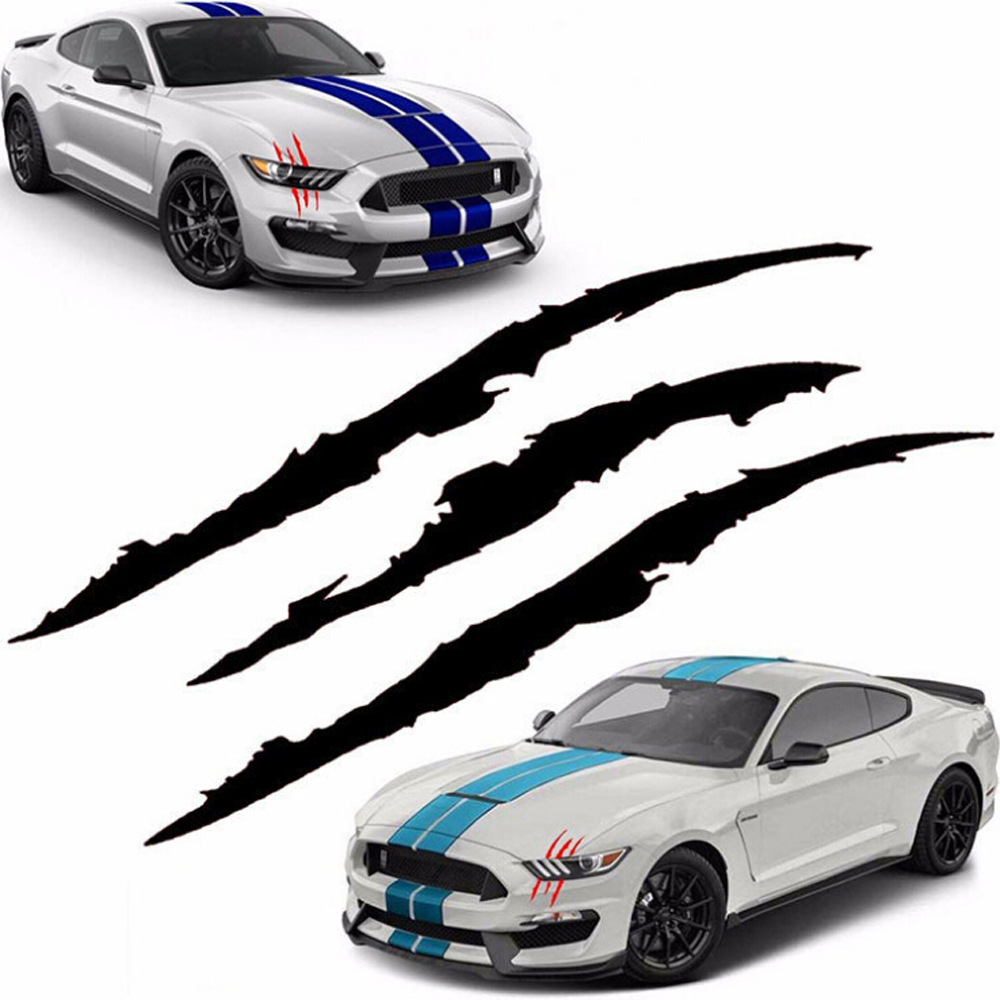 Auto Car Sticker Reflective Monster Claw Scratch Stripe Marks Headlight Decal Car Stickers 2