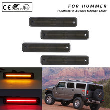 4X duman lens LED side marker işık lambası ön + arka Amber/kırmızı Hummer H2 03-09