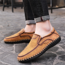 New Fashion Leather Men Shoes Casual Flat Men Shoes Large Size 38-48 Waterproof Loafers Men High Quality Moccasins Comfortable * 2016 new brand real genuine leather casual men s shoes matching summer flat men tenis masculino size 38 46 top quality shoes men