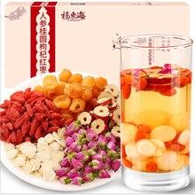 Fuhai Donghai ginseng, longan, medlar, red dates, tea, nourishing qi, blood, tea, rose tea, health tea, beauty and beauty стоимость