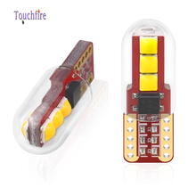 100 adet T10 LED W5W plaka işık 3030LED 3SMD Lens ile otomatik kama dönüş yan ampuller İç okuma tavan aydınlatması toptan