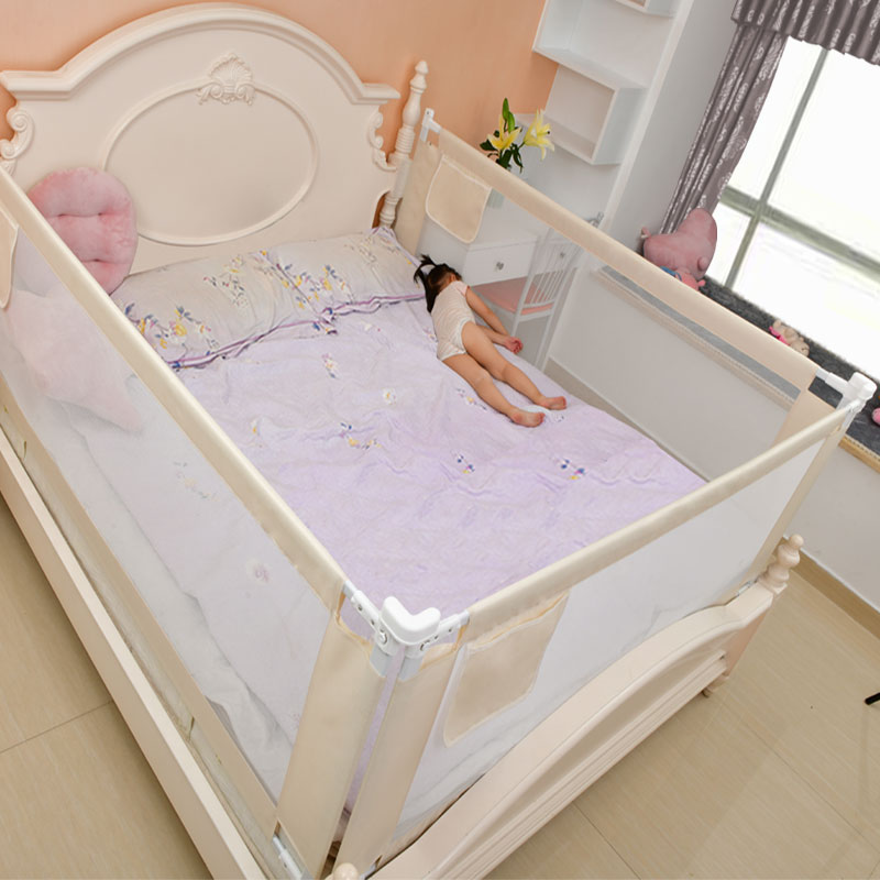 Height Adjustable Baby Gate for Bed with Rails to Protect Newborns and infants From Falling 2