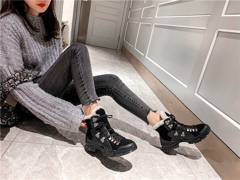 FEDONAS Cross Tied Women Quality Genuine Leather Ankle Boots Casual Office Shoes Woman Winter Vintage Warm Female Snow Boots 57