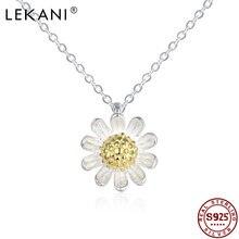 Lekani 925 серьги подвески с цветочным украшением из чистого