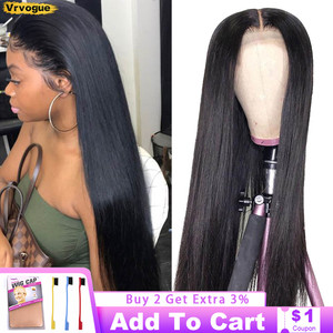 13x4 Lace Frontal Wig Remy Brazilian Straight Lace Front Human Hair Wigs For Women Pre Plucked 4x4/5x5/6x6 Lace Closure Wig