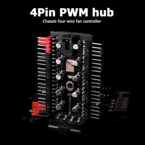 Image 5 - האם 1 כדי 10 4 פינים PWM Cooler מאוורר HUB ספליטר הארכת 12V SATA כוח/גדול 4D יציאת אספקת מחשב מהירות בקר מתאם