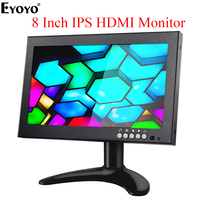 Eyoyo EM08G 8 Inch HDMI Small Monitor 1280X720 IPS Display Computer PC LCD Screen with VGA AV BNC for PC TV CCTV Camera Security