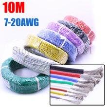 10 meter Hohe Qualität Weichen Kabel Extra Weiche Hohe Temperatur Silikon Draht 10 11 12 13 14 15 16 17 18 20 22 24 26 AWG