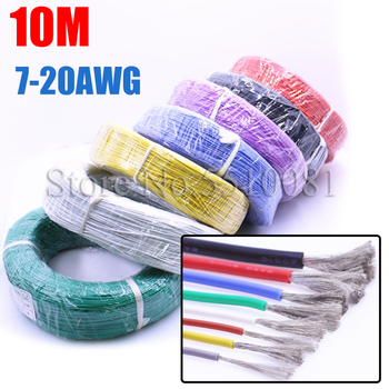 10 Meters High Quality Soft Cable Extra Soft High Temperature Silicone Wire 10 11 12 13 14 15 16 17 18 20 22 24 26 AWG image
