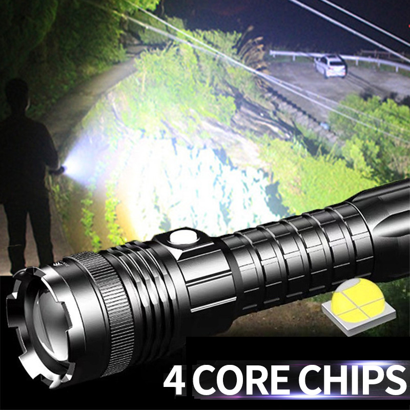 Lamp Head Torch 64 LED Light Front to Batteries Hunting Camping Hiking