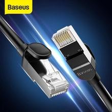 Câble Ethernet rond Baseus Cat 6 câble Lan CAT6 RJ 45 câble réseau 15 m/10 m/5 m cordon de raccordement pour routeur d'ordinateur portable câble Internet RJ45