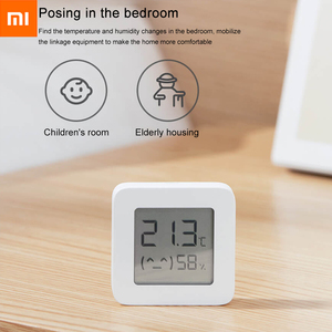 Image 3 - شاومي الذكية الرقمية ميزان الحرارة 2 Mijia بلوتوث درجة الحرارة الرطوبة الاستشعار الرطوبة متر شاشة LCD Mijia mi المنزل App