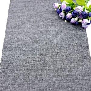 Image 2 - Тканевая ткань, искусственная льняная скатерть, Деревенское украшение для свадебной вечеринки, банкета, домашний текстиль, скатерть для мебели