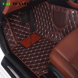leather Custom car floor mat For renault logan megane 2 captur kadjar fluence laguna scenic koleos Espace accessories carpet(China)