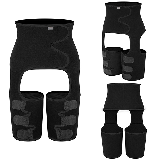 Men's Body Shaper Sauna Waist Trainer Corset Sweat Belt Thigh Slimmer Weight Loss Abdomen Shapewear Belly Leg Shapers Fitness 2