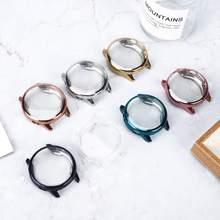 Protector de pantalla + funda para Samsung Galaxy watch active 2, 44mm, 40mm, funda envolvente de TPU, parachoques + Accesorios para reloj de película