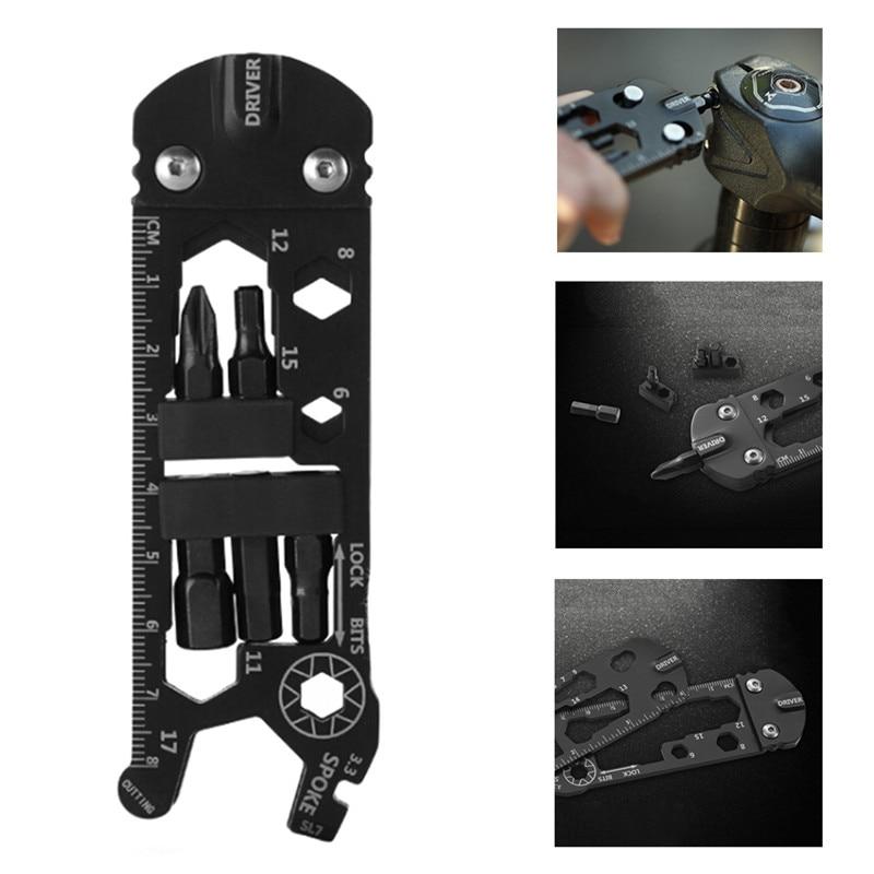 16 In 1 Multi-function Bicycle Bike Repair Tools EDC Gadget Outdoor Equipment Camping Tools Wrench Portable Cycling Repair Tool