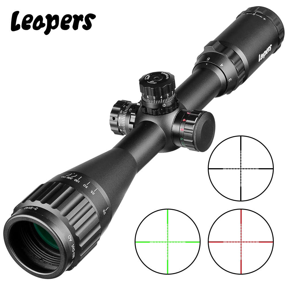 3-9X40 Riflescope Tactical Optical Rifle Scope Red Green Blue Dot Sight Illuminated Retical Sight Hunting Scopes