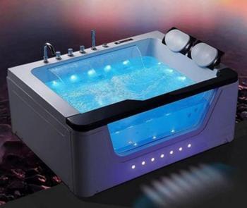 Banheira de hidromassagem acrílica da banheira do redemoinho da fibra de vidro de 1700mm