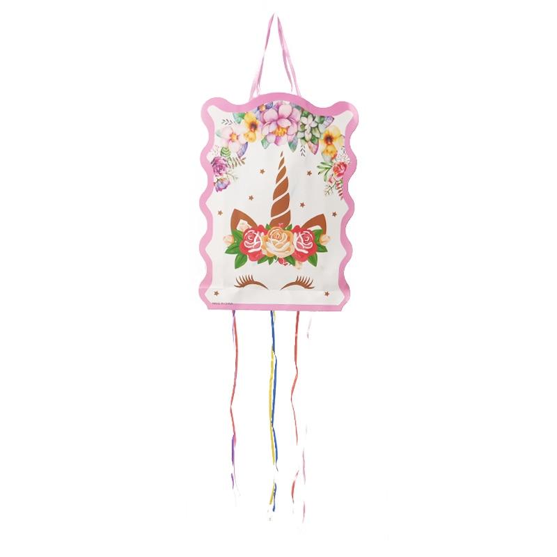 1 комплект Единорог бумажная Складная пиньята детские штаны для мальчиков и девочек День рождения Сделано в Китае с днем рождения воздушные...