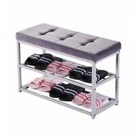 Multifunctional shoe stool creative storage shoe rack dormitory can sit sofa rectangular storage stool home locker