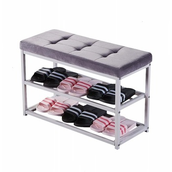 Multifunctional shoe stool creative storage shoe rack dormitory can sit sofa rectangular storage stool home locker