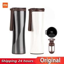 원래 Xiaomi 키스 키스 물고기 스마트 스테인레스 스틸 열 진공 물병 민감한 온도 센서와 커피 브루어