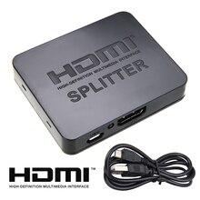 HDMI Splitter 1In 2Out 1080p 4K 1x2 HDCP HDMI Splitter Video Switcher 3D Splitter Power Signal Amplifier HDMI Video Splitter