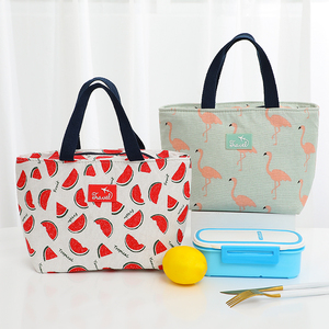 Brivilas hand cooler lunch bag funny cartoon kids bags for women flamingo thicken thermal breakfast box portable picnic travel