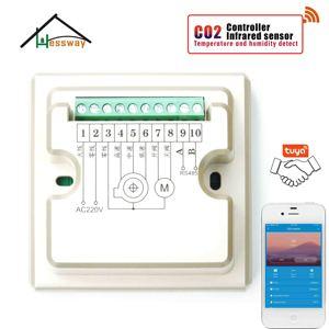 Image 5 - HESSWAY TUYA APP RS485 et MODBUS analyseur de gaz infrarouge détecteur de capteur de co2 pour contrôleur de système dair