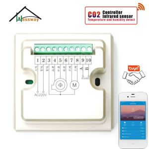 Image 4 - HESSWAY TUYA Nather NDIR CO2 גלאי wifi רגולטור אוויר באיכות עבור בתי חולים בתי ספר בית