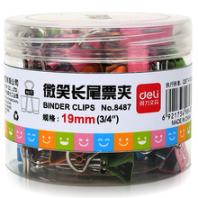 Clip-Clip File Office-Stationery Mixed-Loading Metal Deli Sorting Fixing 8487 Color Cartoon