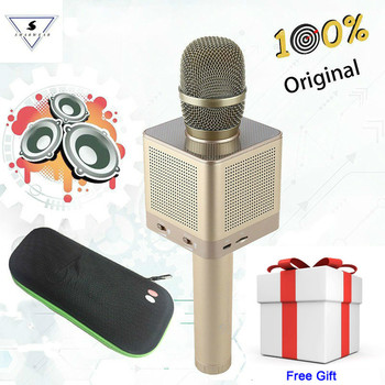 Original Q10S Bluetooth Wireless Microphone KTV Karaoke HQ Sound Wave Wall Shaking Bass Support With Android Apple IOS System