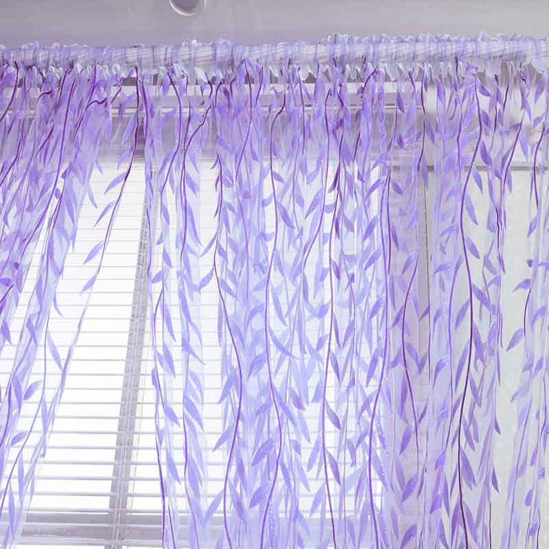 Купить с кэшбэком Willow Tulle Curtains For Living Room Pastoral Style Children's Room Blackout Window Curtains For Bedroom Home Decor 4 Colors
