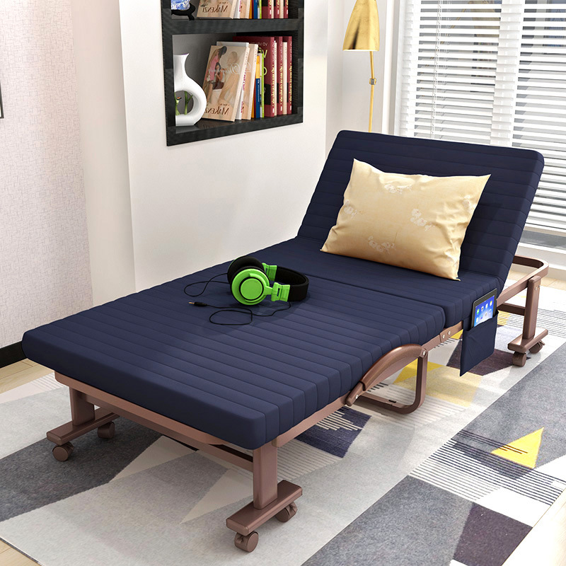 Folding Bed Single Person Nap Bed Double Bed Household Cot Visitor Bed Camp Bed Office Siesta Bed