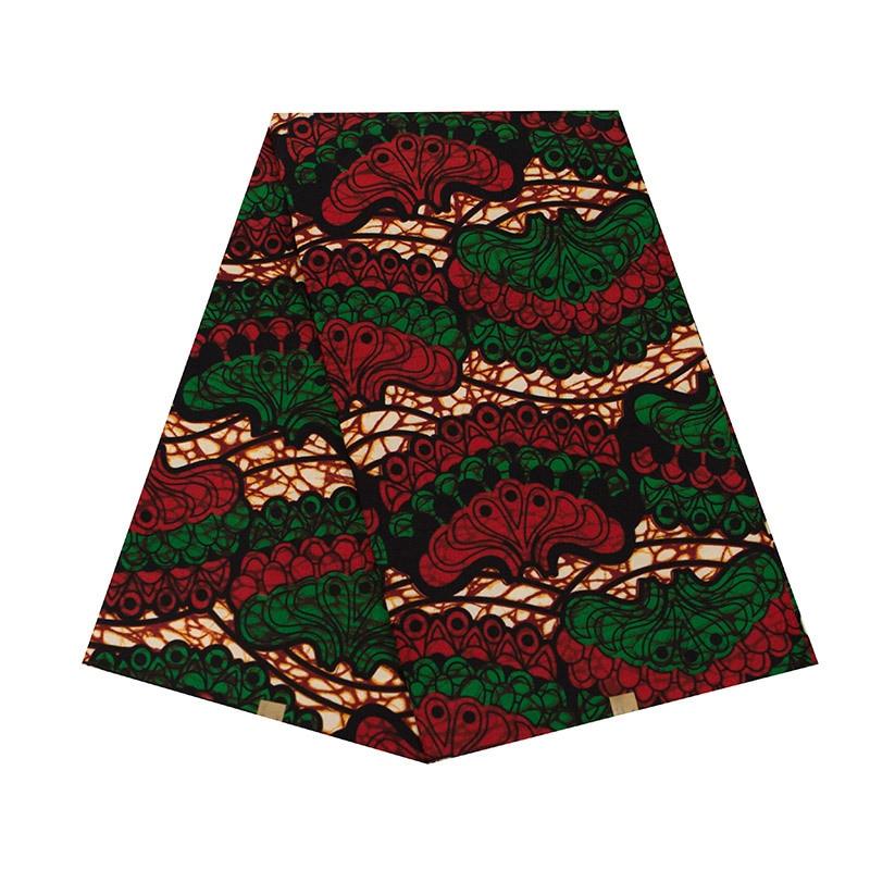 Vintage Style Printed African Ankara Wax Fabric 100% Pure Polyester African Ankara Wax Fabric Print For Party Wholesale 6 Yards