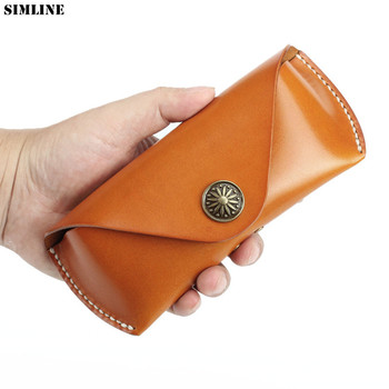 Genuine Leather Glasses Case Box Hard Spectacles Sunglasses Bags Eyeglasses Cases Eyewear Holder Cover Accessories For Men Women
