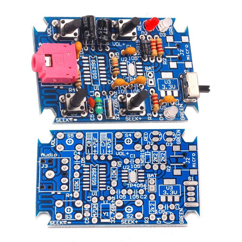 FM Stereo Radio Kit DIY Radio Parts GS1299 Digital Production Set Housing Screws 83XB